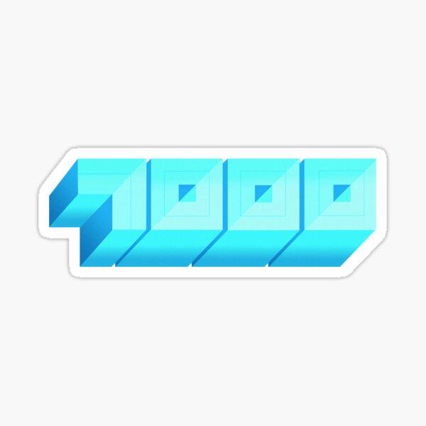 Blue Chips 7000 Sticker