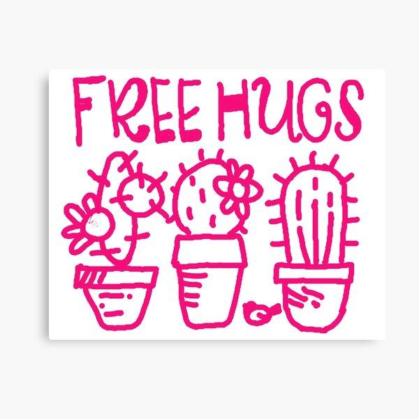Free hugs my love Canvas Print