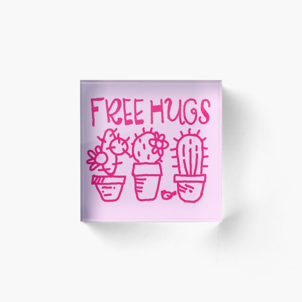 Free hugs my love Acrylic Block