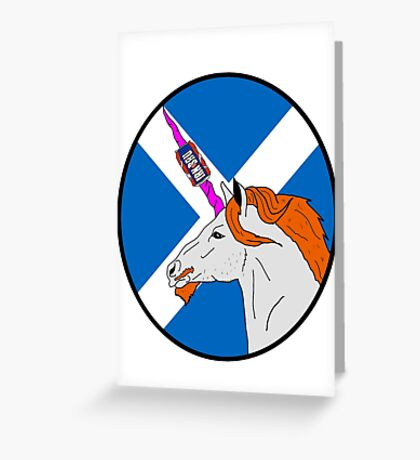 The Ginger Unicorn Greeting Card