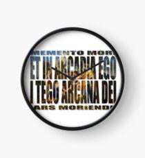ET IN ARCADIA EGO - I TEGO ARCANA DEI Clock
