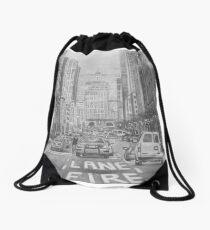 New York Cityscape drawing. Drawstring Bag