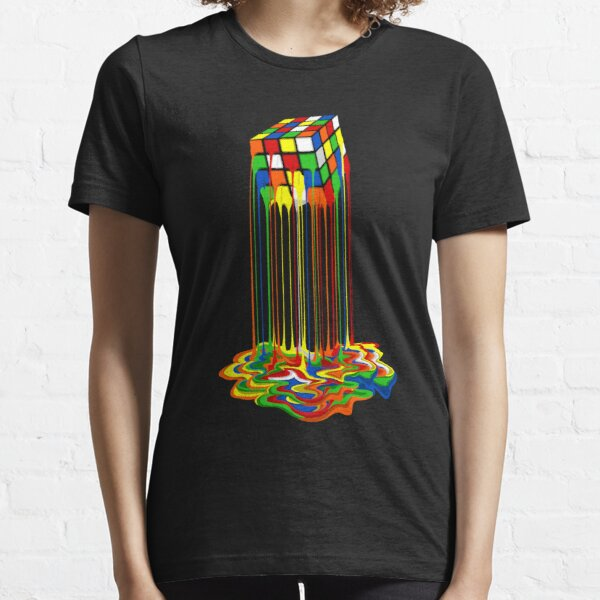Abstraction arc-en-ciel fondu rubiks cube T-shirt essentiel