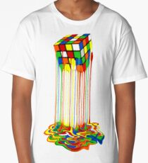 Rainbow Abstraction melted rubiks cube Long T-Shirt