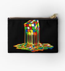 Rainbow Abstraction melted rubiks cube Studio Pouch