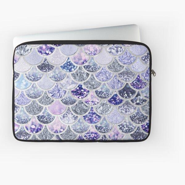 Ultra Violet Purple Sparkle Faux Glitter Mermaid Scales Laptop Sleeve