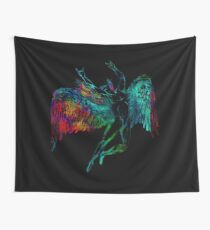 ICARUS THROWS THE HORNS - mythical  *find unlisted gems in my portfolio* Wall Tapestry