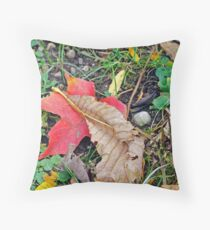 Leaves on a Bright Day Throw Pillow