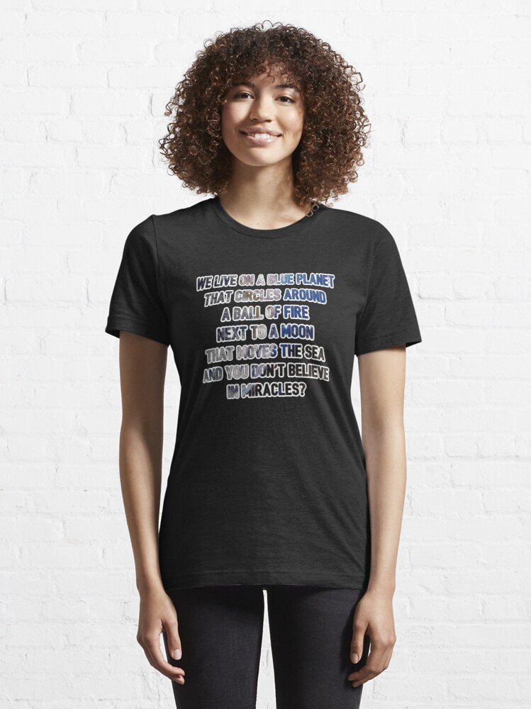 Alternate view of We Live On A Blue Planet - Astronomy And Space Gift Essential T-Shirt