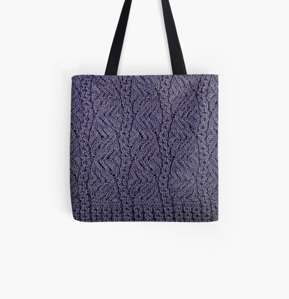 Lacey Curves - Purple All Over Print Tote Bag