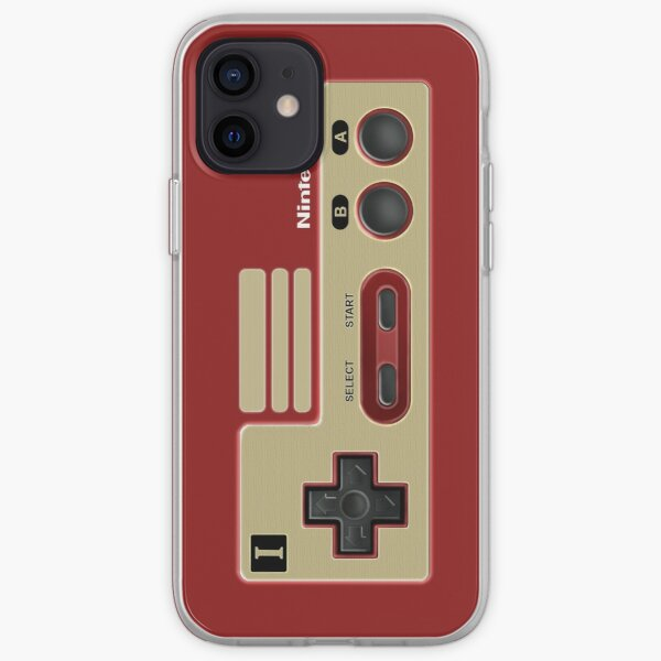 Retro Classic vintage Red Gold game controller iPhone Soft Case