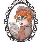 «Chica pelirroja y conejo» de Galbrin