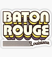 Baton Rouge, Louisiana | Retro Streifen Sticker
