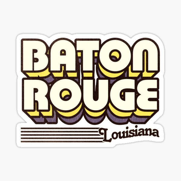 Baton Rouge, Louisiana | Retro Stripes Sticker