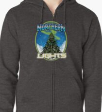 Northren Lights  Zipped Hoodie