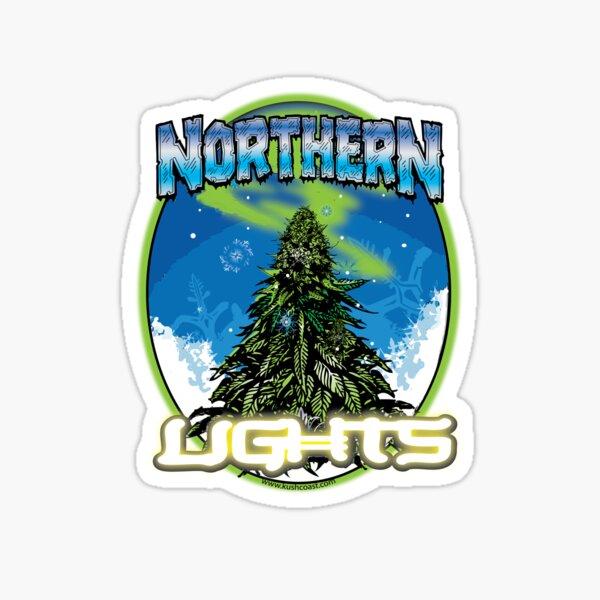Northern Lights Cannabis Strain Art Sticker