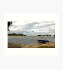 View down Maroochy River Art Print