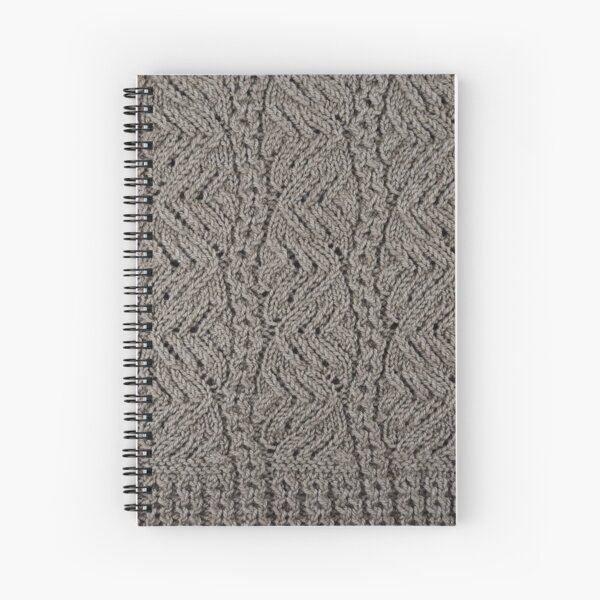 Lacey Curves - Taupe Spiral Notebook