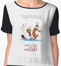 Calvin and Hobbes Dancing Chiffon Top