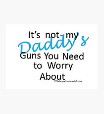 Daddy's guns b Photographic Print