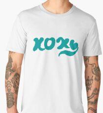 Calligraphy Hugs and Kisses Men's Premium T-Shirt