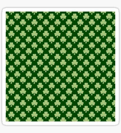 Shamrock Clover Polka dots St. Patrick's Day green pattern Sticker