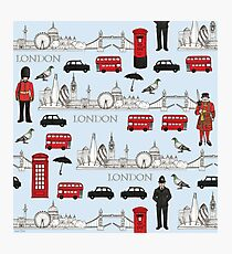 London Skyline and Icons Photographic Print