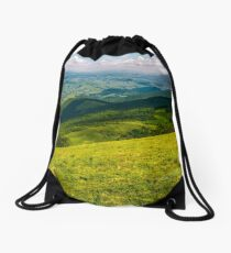 footpath down the hillside in to the valley Drawstring Bag