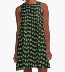 lit 420 leaf pattern  A-Line Dress
