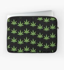 lit 420 leaf pattern  Laptop Sleeve