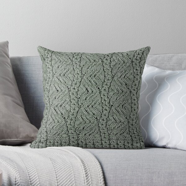 Lacey Curves - Sage Throw Pillow