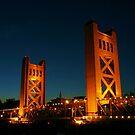 Tower Bridge at Night by Barbara  Brown