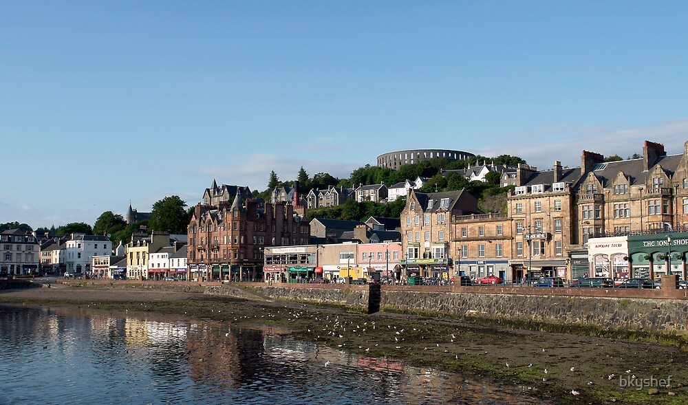 Oban with McCaig's Tower as the Backdrop by bkyshef