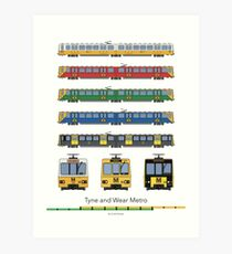 Tyne and Wear Metro Livery (full) Art Print