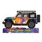 Tie Dye Jeep Wrangler by BluAnchor
