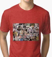 Camiseta de tejido mixto Collage Banksy