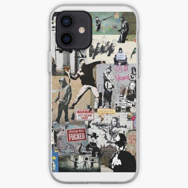 Banksy Collage Coque souple iPhone