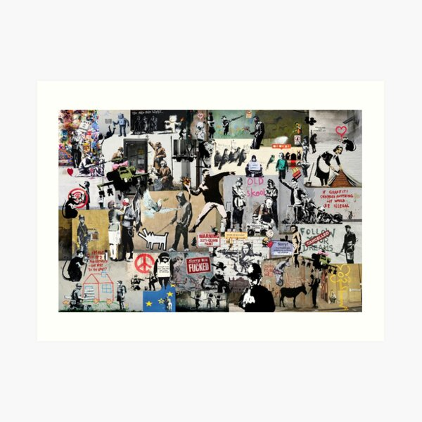 Banksy Collage Art Print