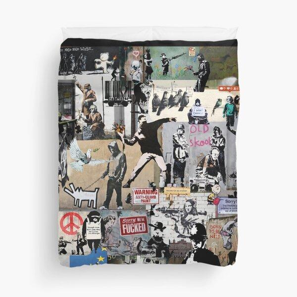 Banksy Collage Duvet Cover