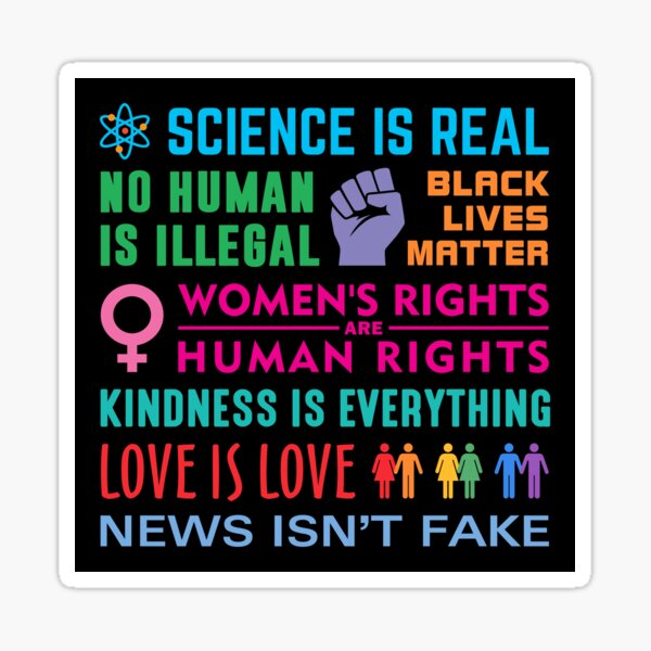 Anti-Trump Resist Slogans Sticker