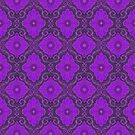 Violet Flower,  Bohemian Floral Arabesque Pattern by clipsocallipso