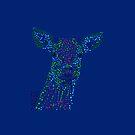 Reh - Deer (gepunktet/pointed) Version 5 von Doris Thomas