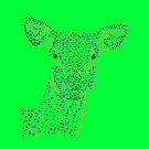 Reh - Deer (gepunktet/pointed) Version 6 von Doris Thomas