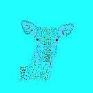 Reh - Deer (gepunktet/pointed) Version 4 von Doris Thomas