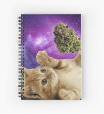 Space kitten  Spiral Notebook