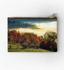 rural area on foggy autumn morning Studio Pouch