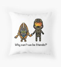 Master Chief & Grunt Throw Pillow