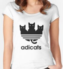 Adicats - Addicted to cats Women's Fitted Scoop T-Shirt