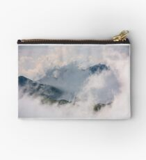 cloud formation in mountains on high altitude Studio Pouch