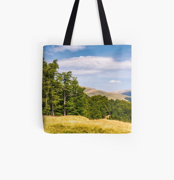 beech forests of Carpathian mountains All Over Print Tote Bag